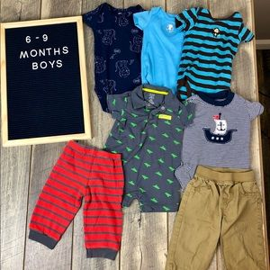 Boys Clothing Bundle Lot of 8 6-9 months